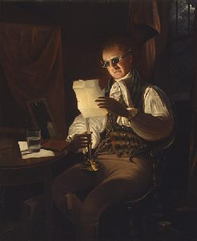 Man Reading by Candlelight 1805