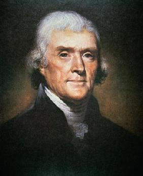Thomas Jefferson (1743-1826) (colour litho) 1873