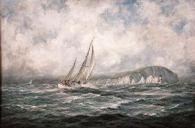 Off the Needles, Isle of Wight, 1997 (oil on canvas)