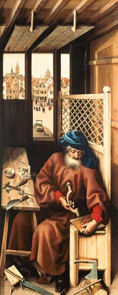 St. Joseph Portrayed as a Medieval Carpenter from the Merode Altarpiece c.1425