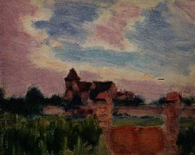 Landscape with a Church (oil on canvas)