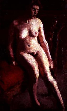 Seated Nude (oil on canvas)