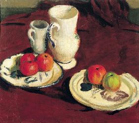 Still Life with Apples (oil on canvas)