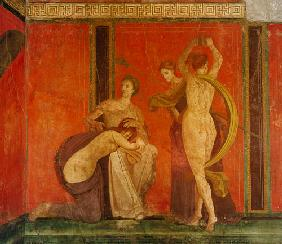 Scourged Woman and Dancer with Cymbals, South Wall, Oecus 5 60-50 BC