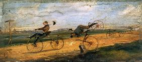 A Race between Lallement Velocipedes c.1865