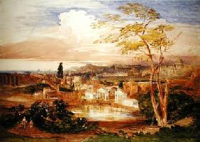 Rome from the Borghese Gardens 1837  on