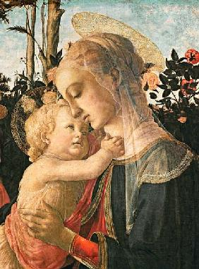 Madonna and Child with St. John the Baptist, detail of the Madonna and Child (detail from 93886)