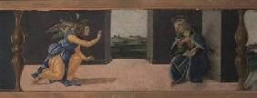 The Annunciation, predella panel from the Altarpiece of St Mark c.1488-90