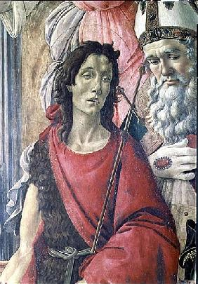 St. John the Baptist, detail from the Altarpiece of St. Barnabas c.1487