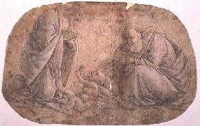 Study for the Adoration of the child