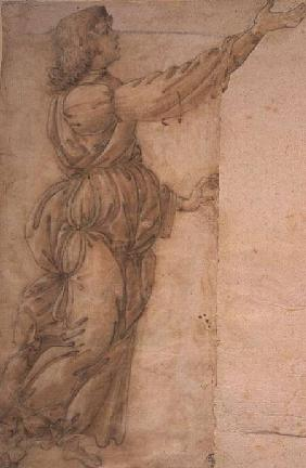 Study of an Angel  (for restored image see 80400)
