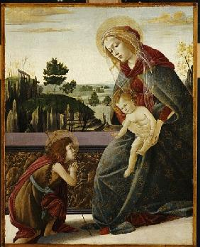 The Madonna and Child with the Young St. John the Baptish in a Landscape