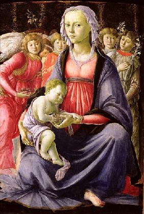 The Virgin and Child surrounded by Five Angels