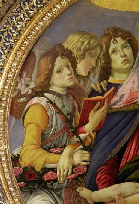 Virgin and Child with Six Angels, called The Madonna of the Pomegranate (detail of 202229)