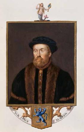 Portrait of Sir John Mason (1503-66) from 'Memoirs of the Court of Queen Elizabeth' published