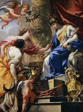 Prudence Leading Peace and Abundance c.1645