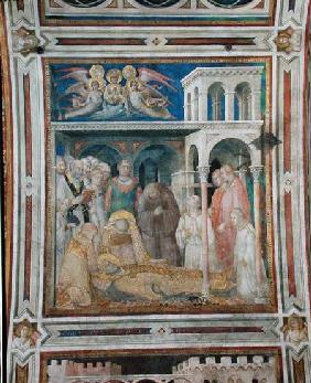 The Death of St. Martin, from the Life of St. Martin c.1322-26