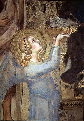 Maesta: Angel Offering Flowers to the Virgin 1315