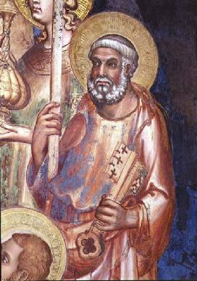 Maesta, detail of St. Peter 1315