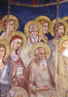 Maesta, detail of saints 1315