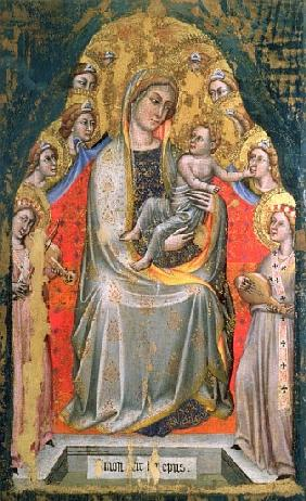 Madonna and Child Enthroned with Angels