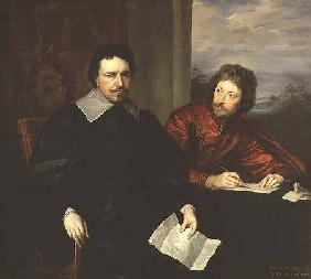 Portrait of Thomas Wentworth, Earl of Strafford (1593-1641) and his Secretary c.1634
