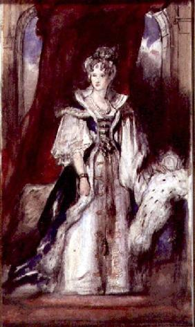 Queen Adelaide (1792-1849) 1836 (pen and w/c on paper)