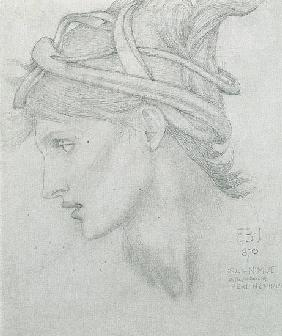 Study for Nimue for 'Merlin and Nimue' 1870