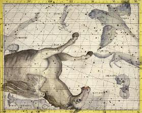 Constellation of Pegasus, plate 25 from 'Atlas Coelestis', by John Flamsteed (1646-1710), published 17th