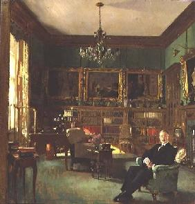 Otto Beit in his study at Belgrave Square 1913