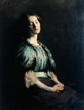 Portrait of a Girl Wearing a Green Dress, 1899 (oil on canvas) 1467
