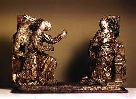 The Annunciation, Painted Wooden Sculpture 2nd Half 1
