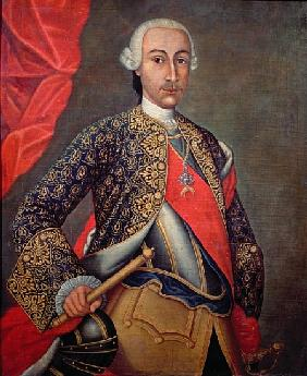 Charles III (1716-88) in armour and wearing the Order of the Golden Fleece