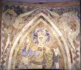 Wall Painting of the Pantocrator from the Caves of Cruz de Maderuelo