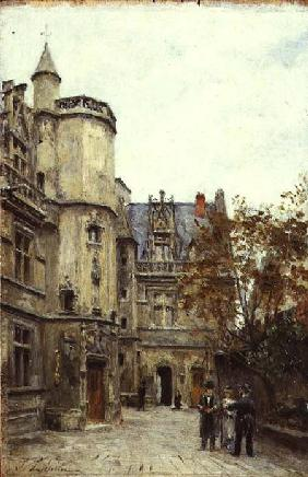The Courtyard of the Museum of Cluny c.1878-80