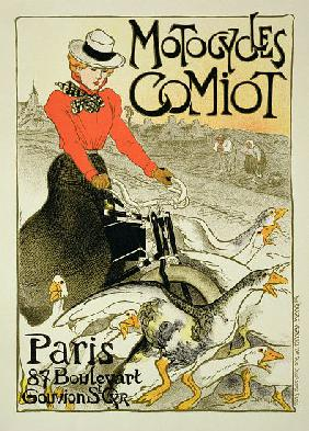 Reproduction of a Poster Advertising Comiot Motorcycles 1899
