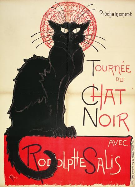Poster advertising a tour of the Chat Noir Cabaret, 1896 (colour litho) 16th