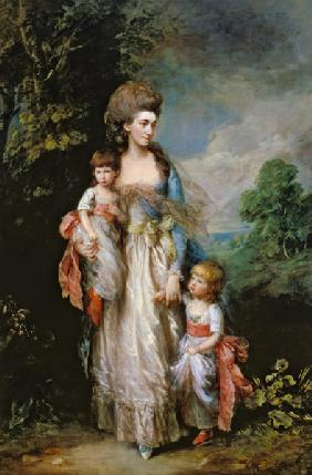Mrs. Moody and two of her children c.1774-76