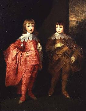 George Villiers, Duke of Buckingham And His Brother, Lord Francis Villiers, 1636, after Van Dyck