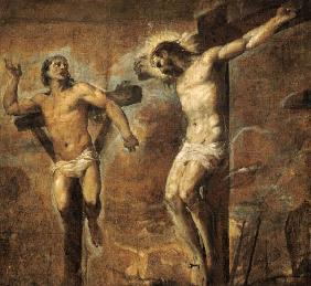 Christ on the Cross and the Good Thief c.1565