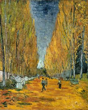 Les Alyscamps, Allee in Arles 1888