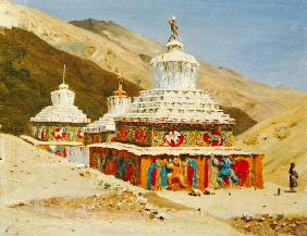 Totentempel in Ladakh 1875