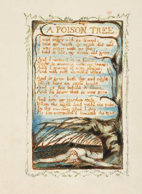 A Poison Tree. Songs of Innocence and of Experience