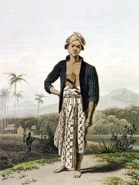 A Javan of the Lower Class, plate 2 from Vol. I of 'The History of Java' by Thomas Stamford Raffles 1560