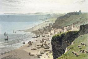 Hastings, from the East Cliff, from 'A Voyage Around Great Britain Undertaken between the Years 1814 16th