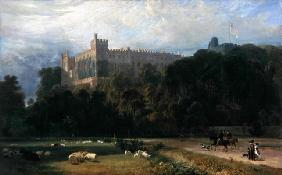 View of Arundel Castle from the south-east, 1823 (oil on canvas) 1560