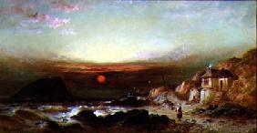 The Mewstone Rock from Wembury 1875