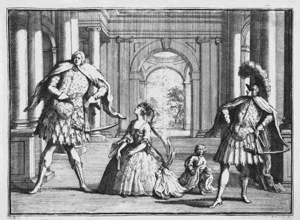Farinelli, Cuzzoni and Senesino in Handel''s ''Flavio'', c.1728