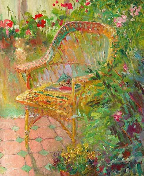Wicker Chair, 2000 (oil on board)