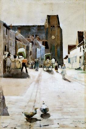 The Main Street, Grez-sur-Loing 1884  on